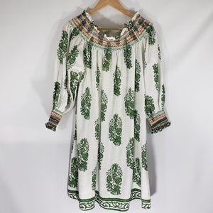 Velzera | 3XL | Leaf Print Open Shoulder Dress